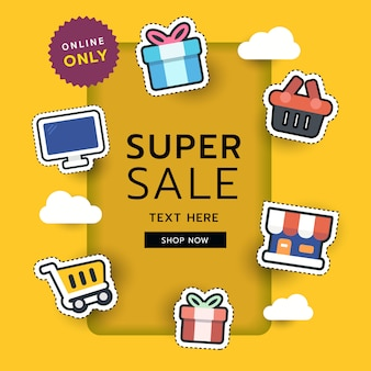 Adesivo dello shopping online