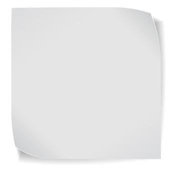 Adesivo di carta isolato su bianco
