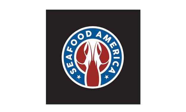 Adesivo di frutti di mare / design del logo distintivo