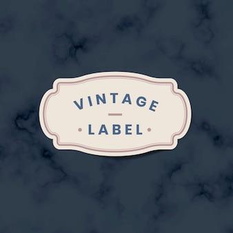 Adesivo etichetta vintage decorato con rose sul vettore