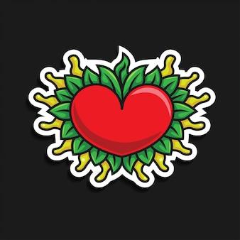 Adesivo icona cuore / amore