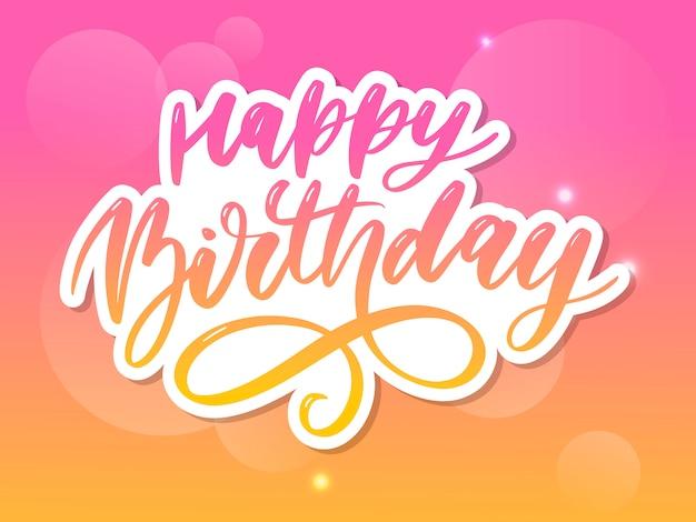 Adesivo lettering di buon compleanno