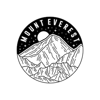 Adesivo monte everest, design distintivo patch