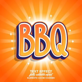 Adesivo per barbecue effetto carattere simpatico cartone animato
