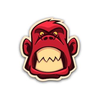 Adesivo scimmia diabolica