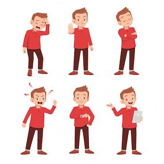 Adolescente con molte espressioni gestuali