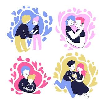 Adorabile collezione di coppia per san valentino