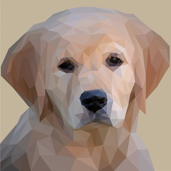 Adorable puppy lowpoly art