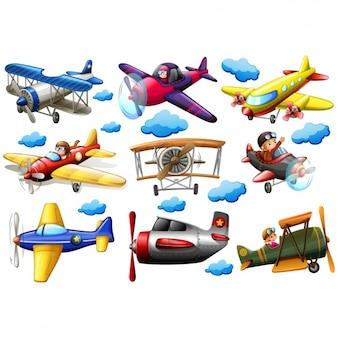 Aeroplani collezione colorata