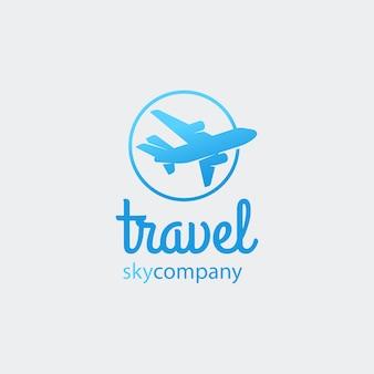 Aeroplano o logo di viaggio