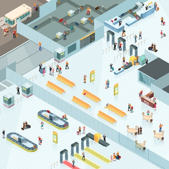 Aeroporto di design isometrico