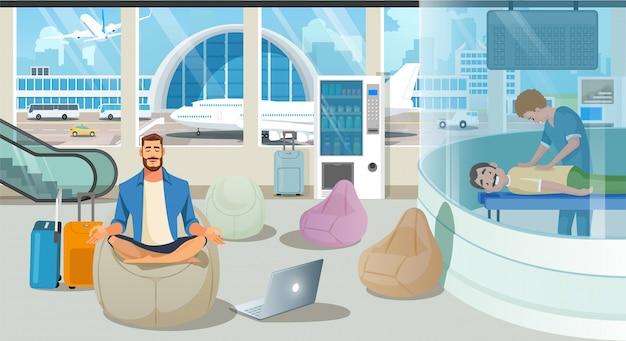 Aeroporto waiting room o lounge service vector