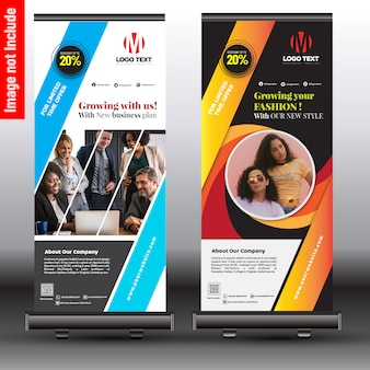 Affari alla moda roll up banner