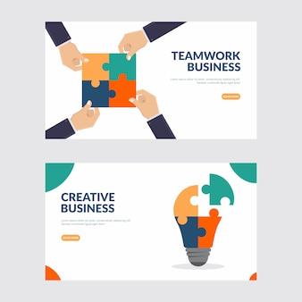 Affari creativi e illustrazione di lavoro di squadra