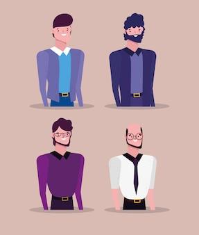 Affari di personaggi di persone