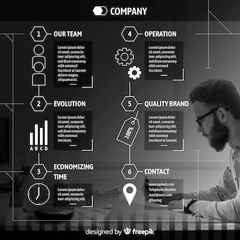 Affari moderni infografica con foto