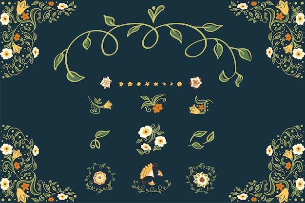 Affari o altro evento dipinto sfondo floreale