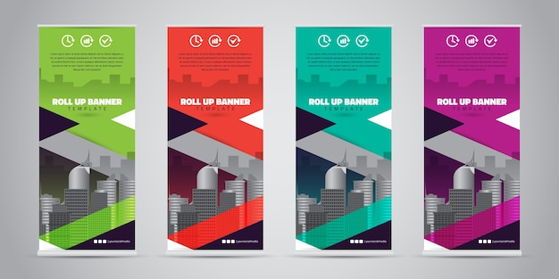 Affari roll up banner. standee design
