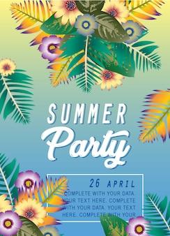 Afiche fiesta de verano