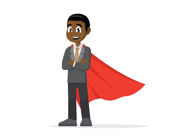 African super uomo d'affari.
