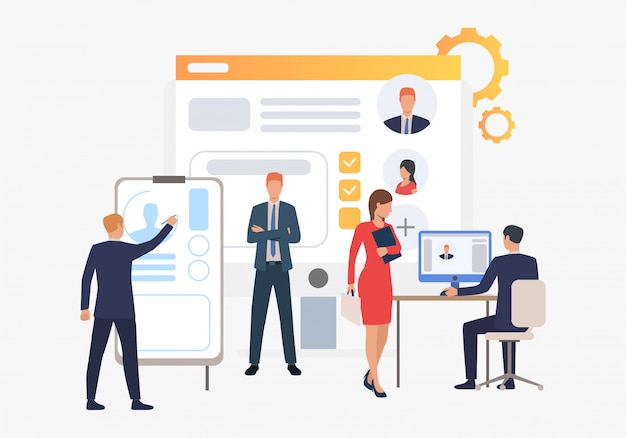 Agenzia di reclutamento, candidati e colloquio di lavoro