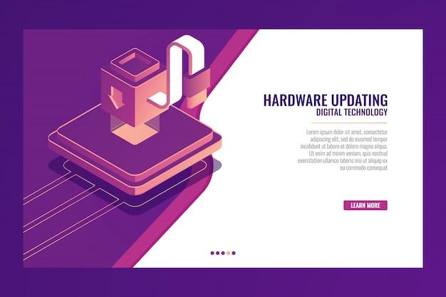Aggiornamento, modernizzazione, miglioramento del dispositivo, aumento dell'efficienza