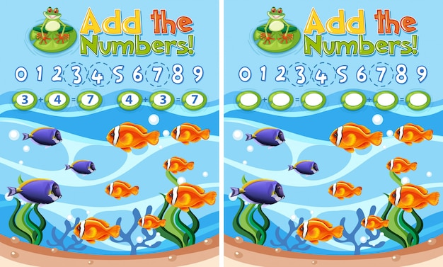 Aggiungi i numeri reef sottomarino