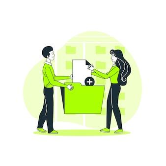 Aggiungi l'illustrazione del concetto di file