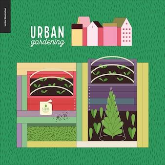 Agricoltura urbana e giardinaggio - semenzai