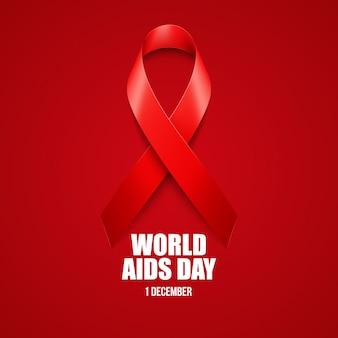 Aiuta la consapevolezza. concetto di giornata mondiale dell'aids.