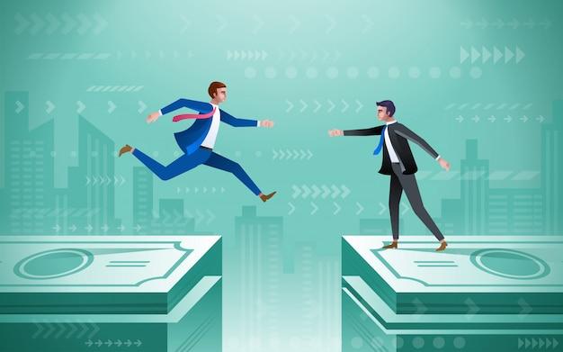 Aiuto di squadra concetto di business