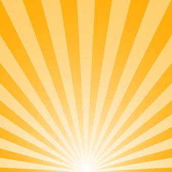 Alba con i raggi di sole su giallo