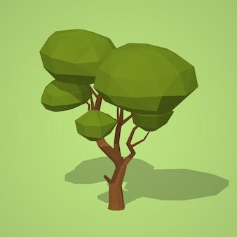 Albero basso poli verde