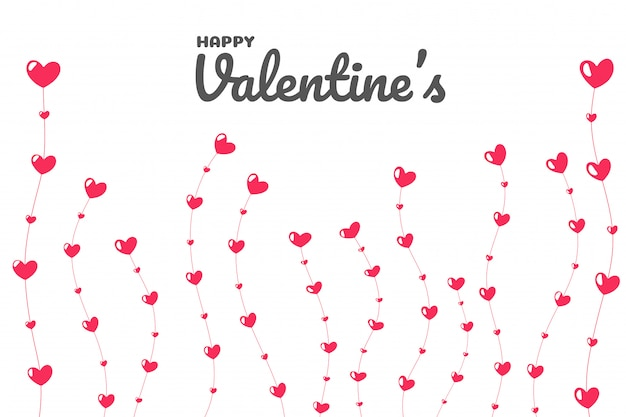 Albero del cuore nel giorno dell'amore. l'albero dell'amore che cresce a san valentino.