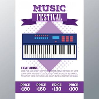 Aletta di filatoio del festival di musica