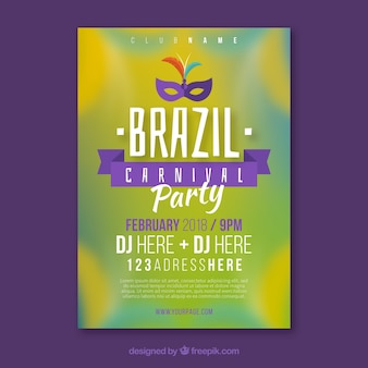 Aletta di filatoio / manifesto brasiliano vaga del partito di carnevale