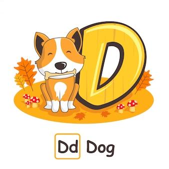 Alfabeti animali cane da lettere d