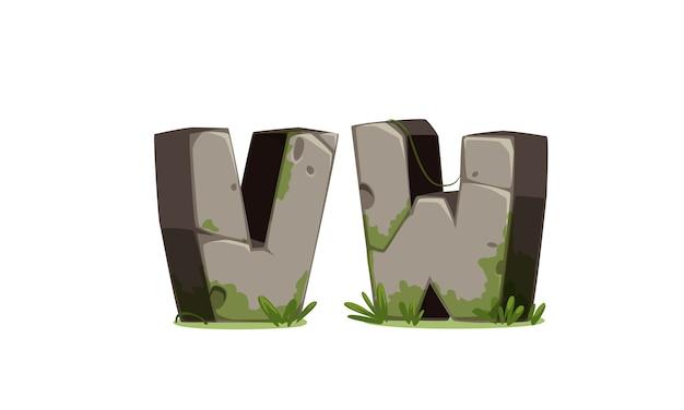 Alfabeti fatti di pietra