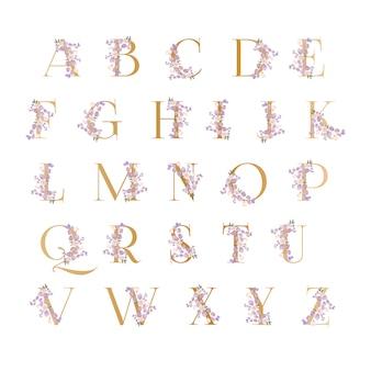 Alfabeti floreali dal design accattivante