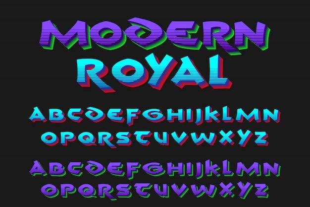 Alfabeti reali moderni 2 colori di stile