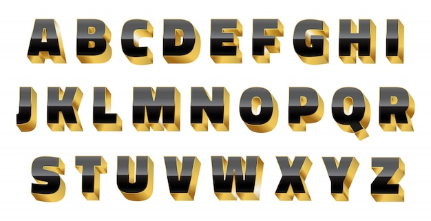 Alfabeto 3d di lusso