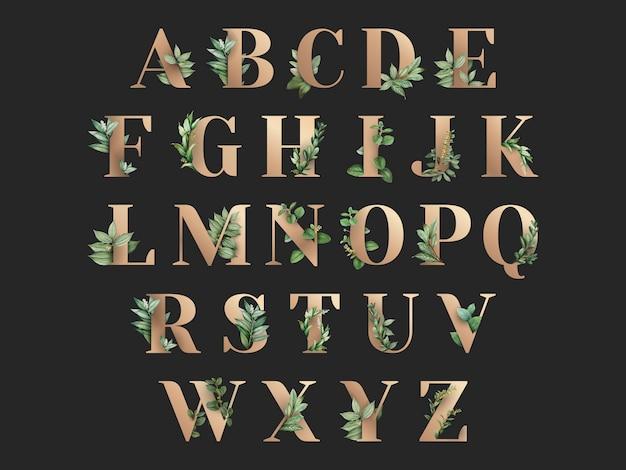 Alfabeto a tema botanico