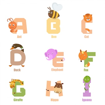 Alfabeto animale ai