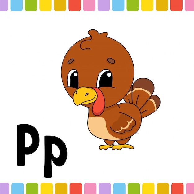 Alfabeto animale. zoo abc. animale simpatico cartone animato