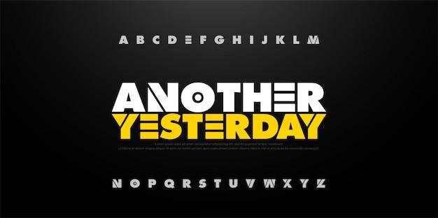 Alfabeto astratto grassetto font divertente. tipografia sportiva