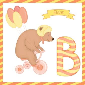 Alfabeto b con cartone animato orso