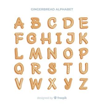 Alfabeto biscotto di panpepato