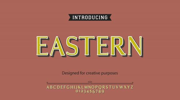 Alfabeto carattere orientale