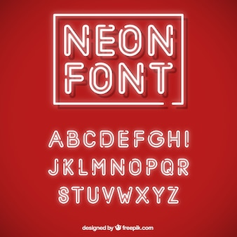 Alfabeto con luci al neon