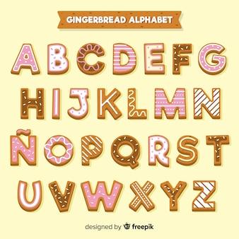 Alfabeto decorato di panpepato